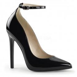SEXY-23 Fekete pántos glamour szexi köröm cipő