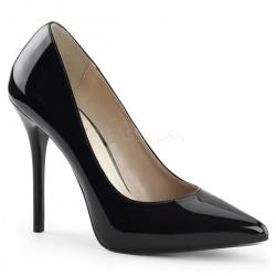 AMUSE-20 Fekete glamour szexi köröm cipő