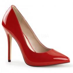 AMUSE-20 Piros glamour szexi köröm cipő