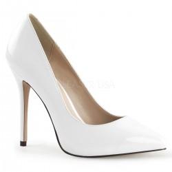 AMUSE-20 Fehér glamour szexi köröm cipő