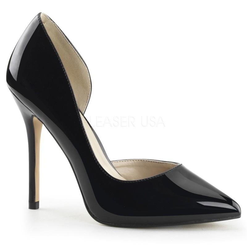 AMUSE-22 Fekete glamour szexi köröm cipő