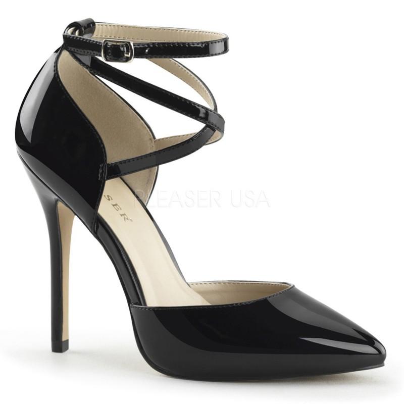 AMUSE-25 pántos glamour szexi köröm cipő