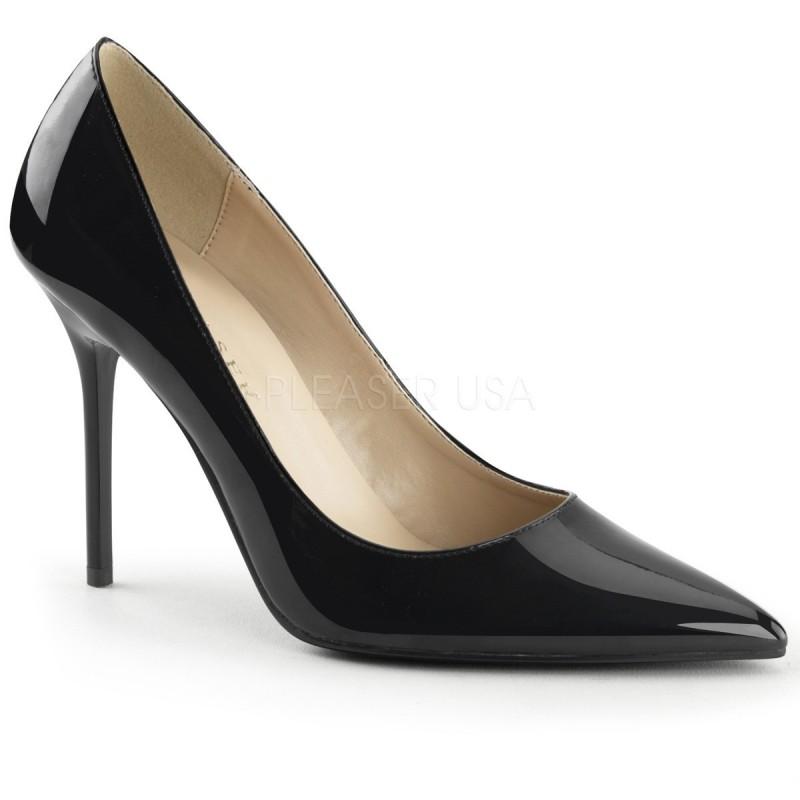 CLASSIQUE-20 Fekete utcai köröm cipő