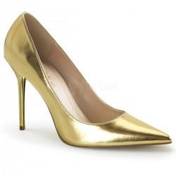 CLASSIQUE-20 Arany utcai köröm cipő