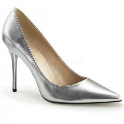 CLASSIQUE-20 Ezüst utcai köröm cipő