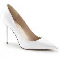 CLASSIQUE-20 Fehér utcai köröm cipő