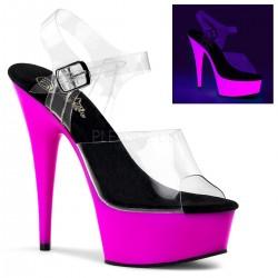 DELIGHT-608UV Szilikon pántos UV táncos cipő