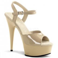 DELIGHT-609 Barna táncos cipő