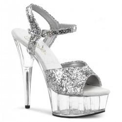 DELIGHT-609 Ezüst táncos cipő