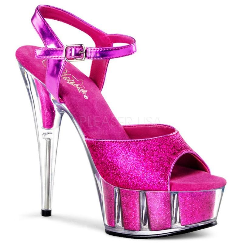 DELIGHT-609-5G Rózsaszín pink táncos cipő