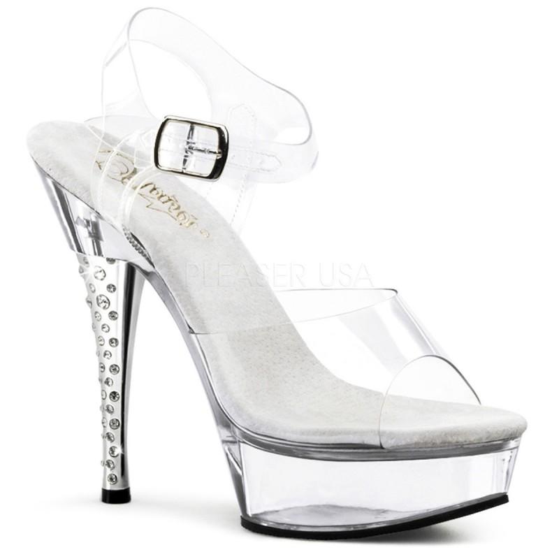 DIAMOND-608 Szilikon pántos strasszköves táncos cipő