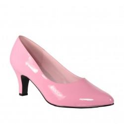 DIVINE-420W Rózsaszín pink köröm cipő