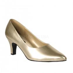 DIVINE-420W Arany köröm cipő
