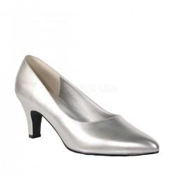 DIVINE-420W Ezüst köröm cipő
