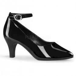 DIVINE-431W Fekete köröm cipő