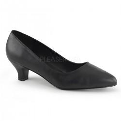 FAB-420W Fekete utcai köröm cipő