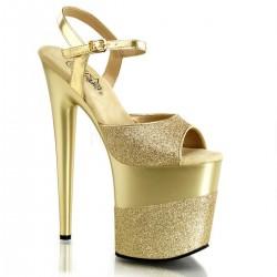 FLAMINGO-809-2G Arany táncos cipő