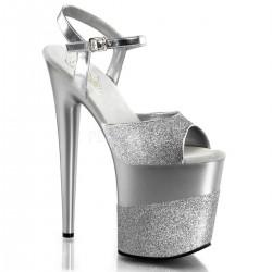 FLAMINGO-809-2G Ezüst táncos cipő