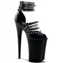 INFINITY-935 Fekete szegecses táncos cipő cipő
