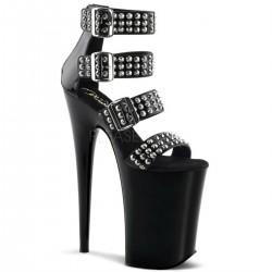 INFINITY-989ST Fekete szegecses táncos cipő cipő