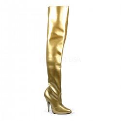 SEDUCE-3010 Arany táncos combcsizma