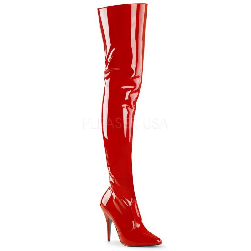 SEDUCE-3010 Piros táncos combcsizma