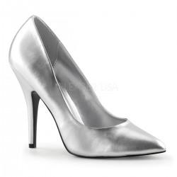 SEDUCE-420 Ezüst glamour szexi köröm cipő