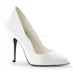 SEDUCE-420 Fehér glamour szexi köröm cipő