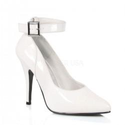 SEDUCE-431 Fehér pántos utcai köröm cipő