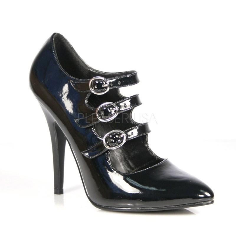 SEDUCE-453 Fekete fűzős Burlesque köröm cipő