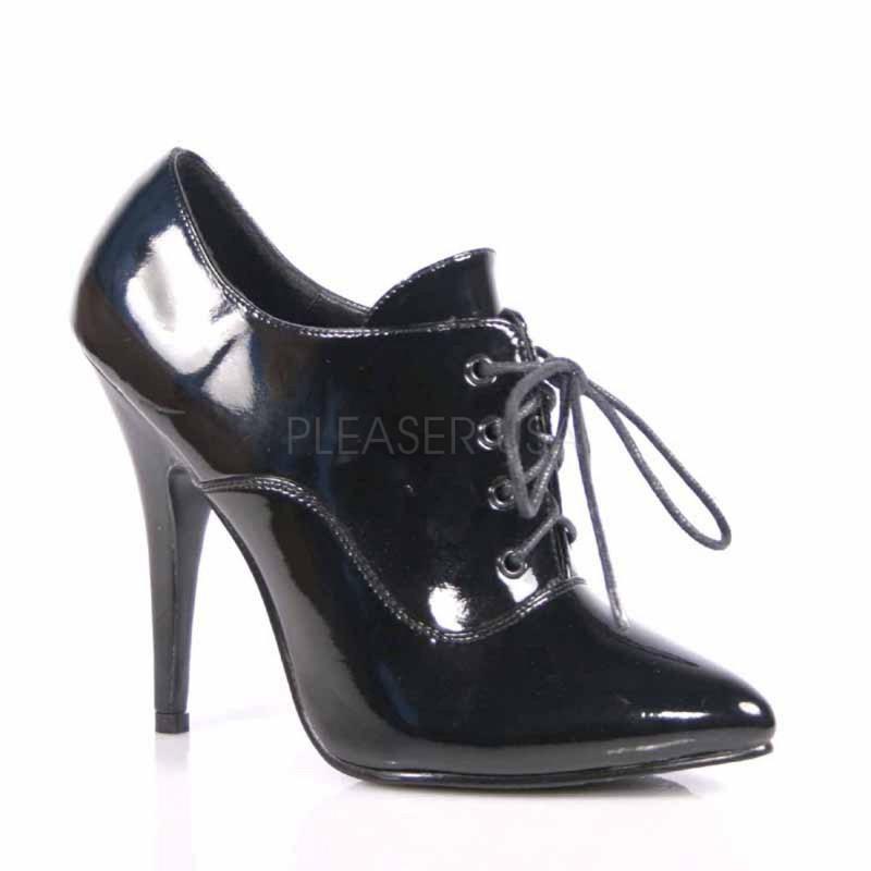 SEDUCE-460 Fekete fűzős Burlesque cipő