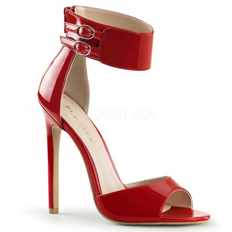 SEXY-19 Piros pántos glamour szexi szandál