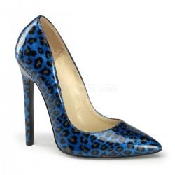 SEXY-20 Kék Állat mintás glamour szexi köröm cipő