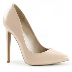 SEXY-20 Barna glamour szexi köröm cipő