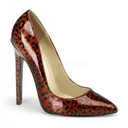 SEXY-20 Piros Állat mintás glamour szexi köröm cipő