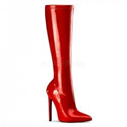 SEXY-2000 Piros glamour szexi csizma