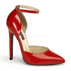 SEXY-21 Piros pántos glamour szexi köröm cipő