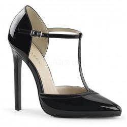 SEXY-27 Fekete pántos glamour szexi köröm cipő