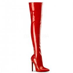 SEXY-3000 Piros glamour szexi combcsizma