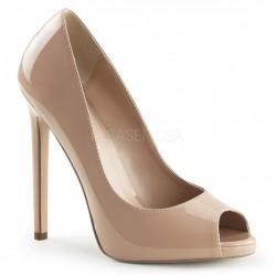 SEXY-42 Barna nyitott orrú glamour szexi köröm cipő