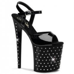 STARDUST-809 Fekete különleges sarkú táncos cipő
