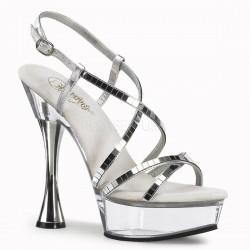 SWEET-413 Ezüst táncos cipő