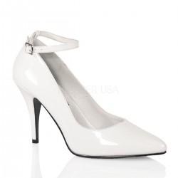 VANITY-431 Fehér pántos utcai köröm cipő