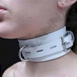 VSN-85 Fehér bőr nyakörv