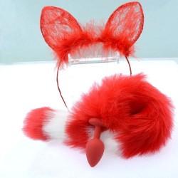 Anál plug cica fülekkel